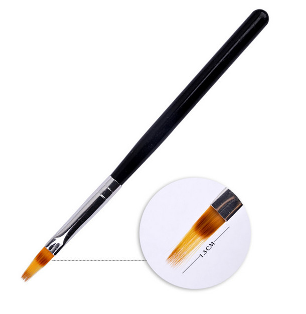 New 1pc Black Handle Nylon Hair Ombre Brush Nail Art Brushes Soft Professional Nails Manicure Tools For Gradient UV Gel Nail