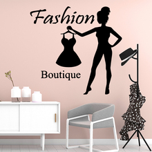 Cute Fashion Boutique Vinyl Wallpaper Decorative Stickers For Store Mural Poster Girl Bedroom Wall Sticker