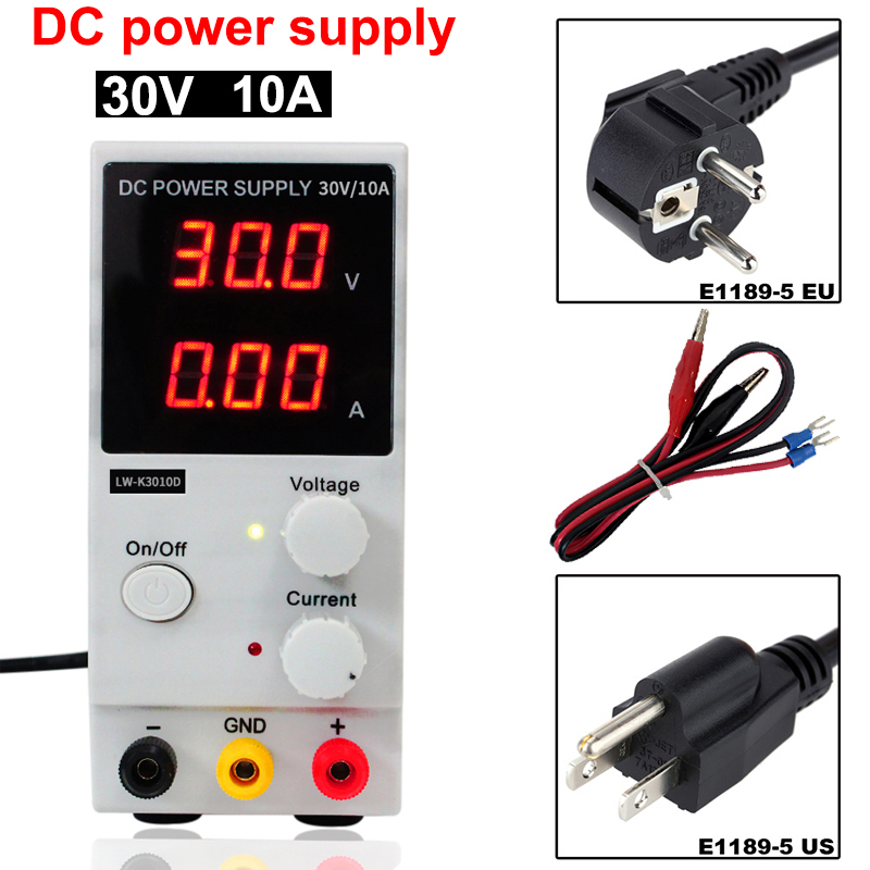 Regulated Adjustable DC Power Supply Single Phase Digital DC power supply 0~30V 0~10A 110V220V Single Phase Switching Power cps 3010ii 0 30v 0 10a low power digital adjustable dc power supply cps3010 switching power supply