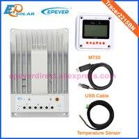 20A зарядное устройство mppt регулятор + MT50 дистанционного метр кабеля USB и датчик температуры Tracer2215BN 12 В 24 В 20amp