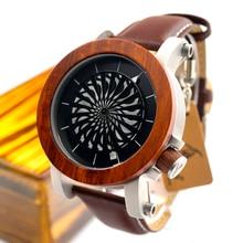 2017 Brand BOBO BIRD Men Watch Mechanical Watches Genuine Leather Strap Wristwatches relogios masculinos B-M20
