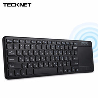TeckNet Wireless Bluetooth Touch Russian Keyboard With Touchpad For Windows PC Smart TV Android OS Tablet