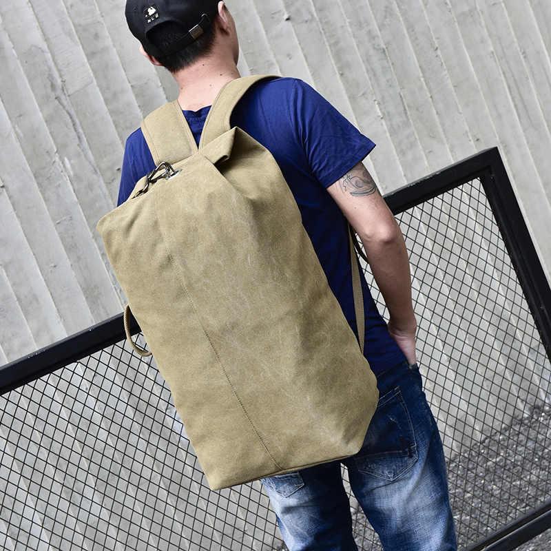 Bolsos Mochilas Impermeable Hombre Casual de Lona de Alpinismo Color S/ólido Bolso para Deportista Bolsos de Estudiantes para Gimnasio Viaje y Escuela Messenger Bag Backpack de Moda Negro