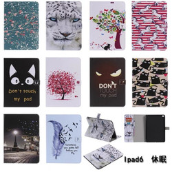 Fashion Painted Cat Unicorn Case Cover For Apple New iPad 9.7 2017 2018 5th 6th Generation Funda Cases A1822 A1954 Stand Shell
