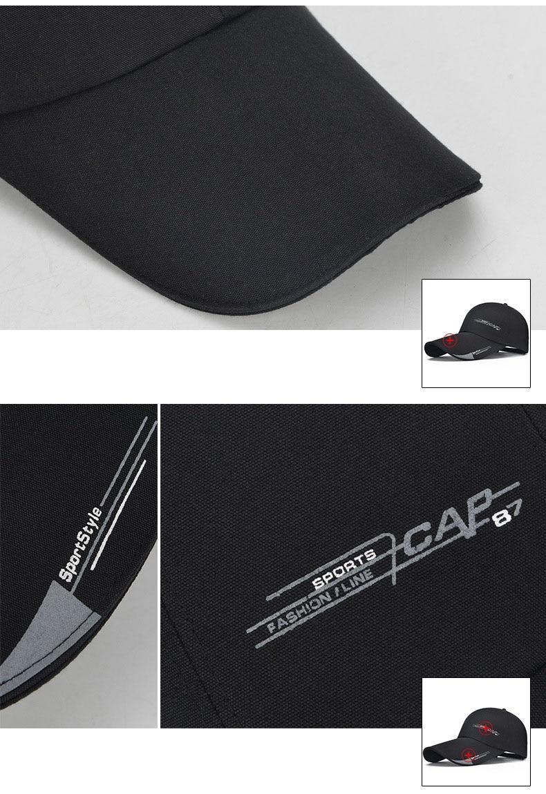 48df59ae9fb Sports Cap Mens Hat For Fish Outdoor Fashion Line Baseball Cap Long Visor  Brim Shade Snapback Sun Hat Bone Gorras. 1 2 3 4. 4 5. 6 7 8
