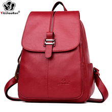 Luxury Brand Female Leather Backpack Fashion Anti Theft Backpack for Women Large Capacity Bookbag Shoulder Bags for Women 2019