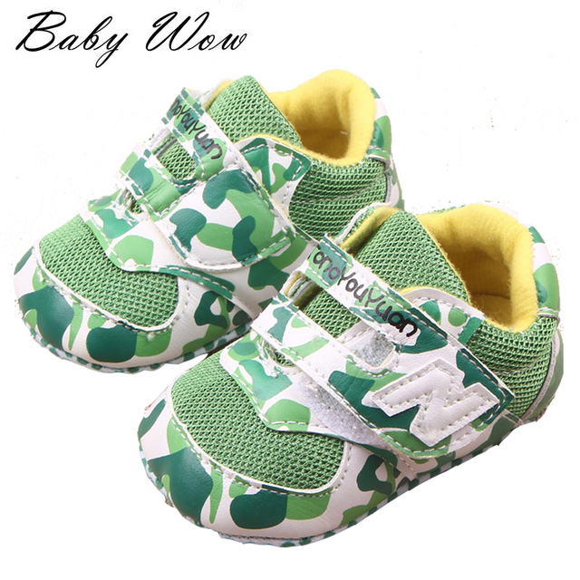 Moda camuflagem bebê recém-nascido primeiro caminhantes sapatos de viagem Moccs crianças sapatos bebê Prewalker tênis de sola macia tyh-40376