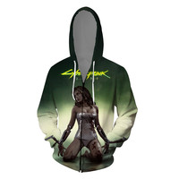 Hot Game Cyberpunk 2077 3D Print men Hoodies Fashion funny Harajuku Sweatshirt Casual hip hop streetwear Coat Jacket Hoodie