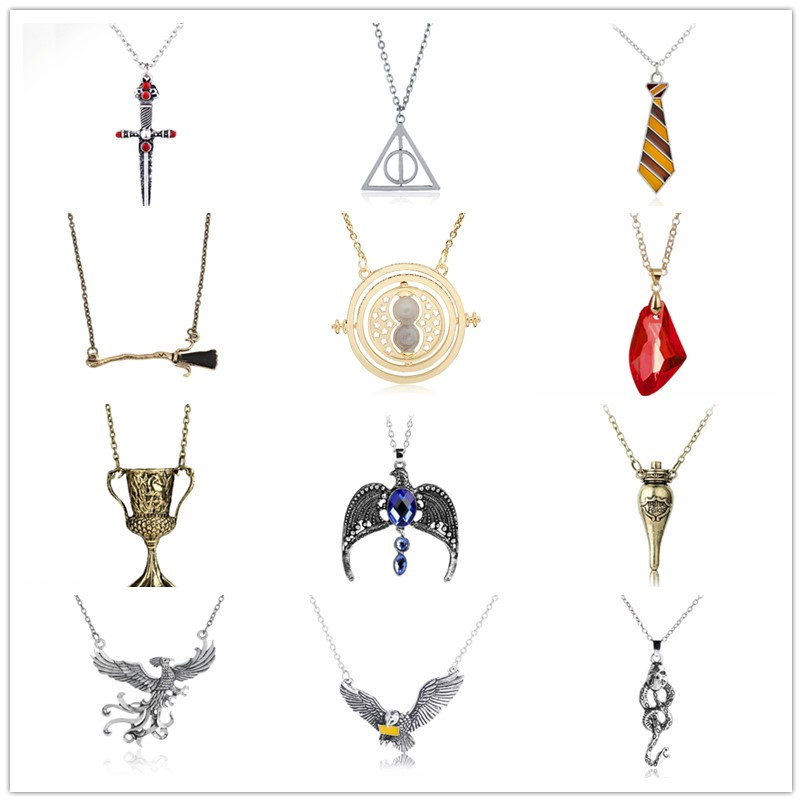 HP Wizard Potters Hermione Granger Time Tuner Necklace Luna Lovegood Glass The Philosopher's Stone The Deathly Hallows