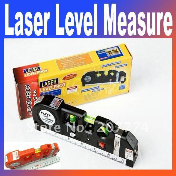 3n1 Aligner Horizon Vertical+ Laser Levels +Measure Tape 15CM +Retail box Free shipping