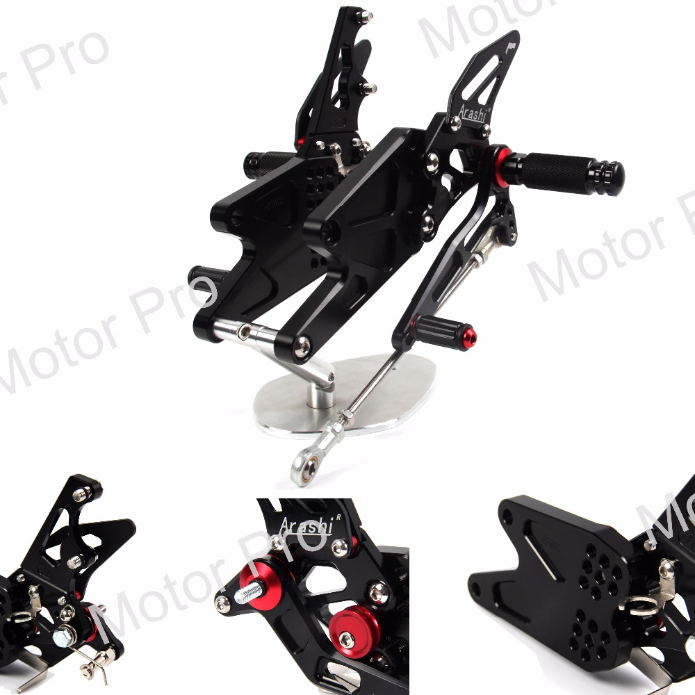 Adjustable Footrests For Yamaha MT03 MT25 2015 2016 2017 MT-25 MT-03 Motorycle Foot Pegs Rests Rearset Rear Set Pedal MT 03 25 for yamaha mt 03 2015 2016 mt 25 2015 2016 mobile phone navigation bracket page 7