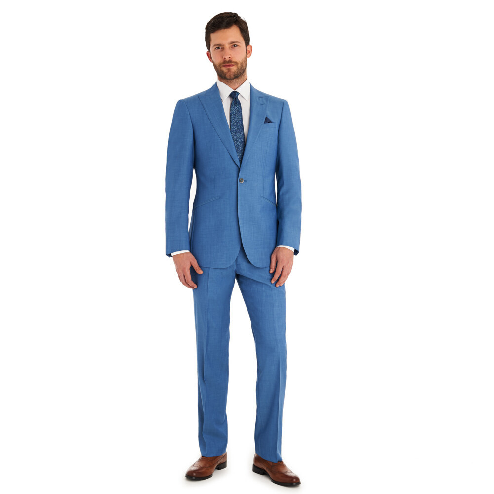 Mature men\'s formal suits one butins High Quality slim groom suits ...