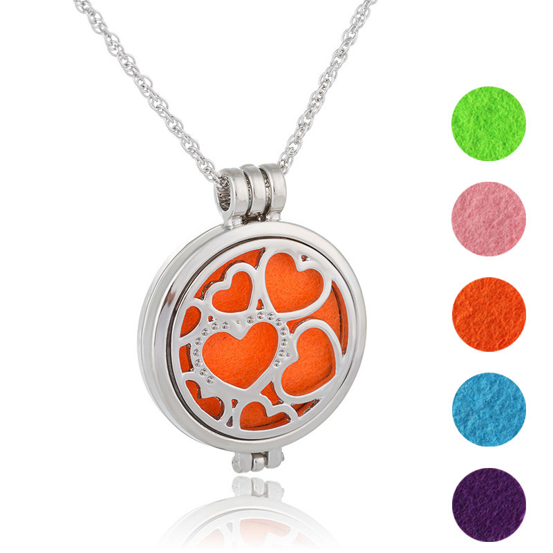 Christmas Bursting Out Connected Heart Sweater Chain Necklace Maam Aromatherapy Colour Pendeloque Cut Accessories TIF293 shouzh