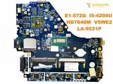 Original for ACER E1-572G laptop motherboard E1-572G I5-4200U HD7640M V5WE2 LA-9531P tested good free shipping