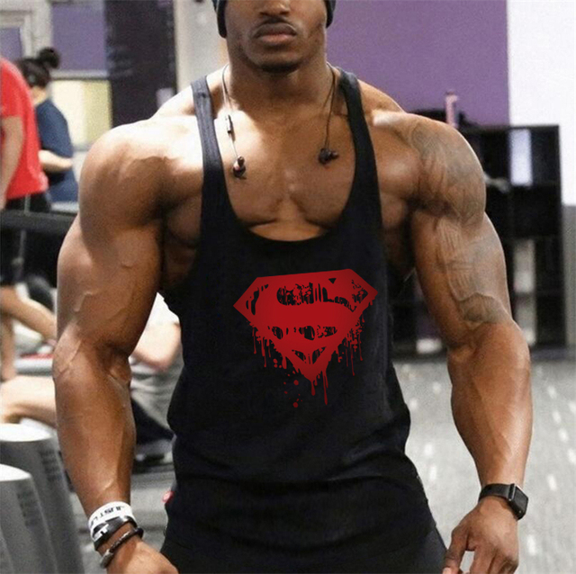 e10e78c4e Gyms Workout Sleeveless Shirt Stringer Tank Top Men Bodybuilding Clothing Fitness  Mens Sportwear Vests Muscle Singlets