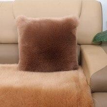 Faux Fox FUR pillow plush cushions winter sofa home bedside pillows chair cushion cojines decorativos para sofa home decor home decorative sofa throw pillows plush solid color cushion pillow cojines decorativos para sofa pillow covers