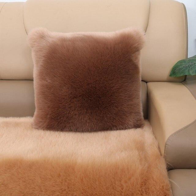 Faux Fox FUR pillow plush cushions winter sofa home bedside pillows chair cushion cojines decorativos para sofa home decor