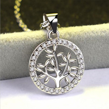 Everoyal Fashion Silver 925 Sterling Necklace For Women Jewelry Trendy Lady Tree Pendant Necklace Girl Clavicle Necklace Jewelry цена 2017