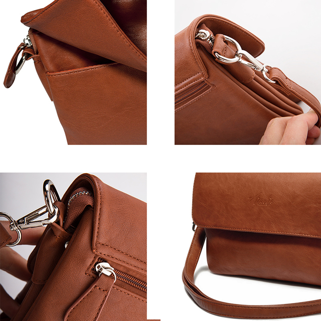 AMELIE GALANTI Crossbody Shoulder Bags for Women  PU Leather Messenger Bags