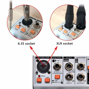 Image 4 - AM G04A Bluetooth Record Multi purpose 4 Channels Input Mic Line Insert Stereo USB Playback Professional Audio Mixer