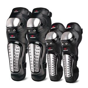 Image 1 - WOSAWE Hard Shell Moto Knee Pads Set Brace Support Sports Off Road Guard MTB Snowboard Kneepad Hockey Motorcycle Protection Kits