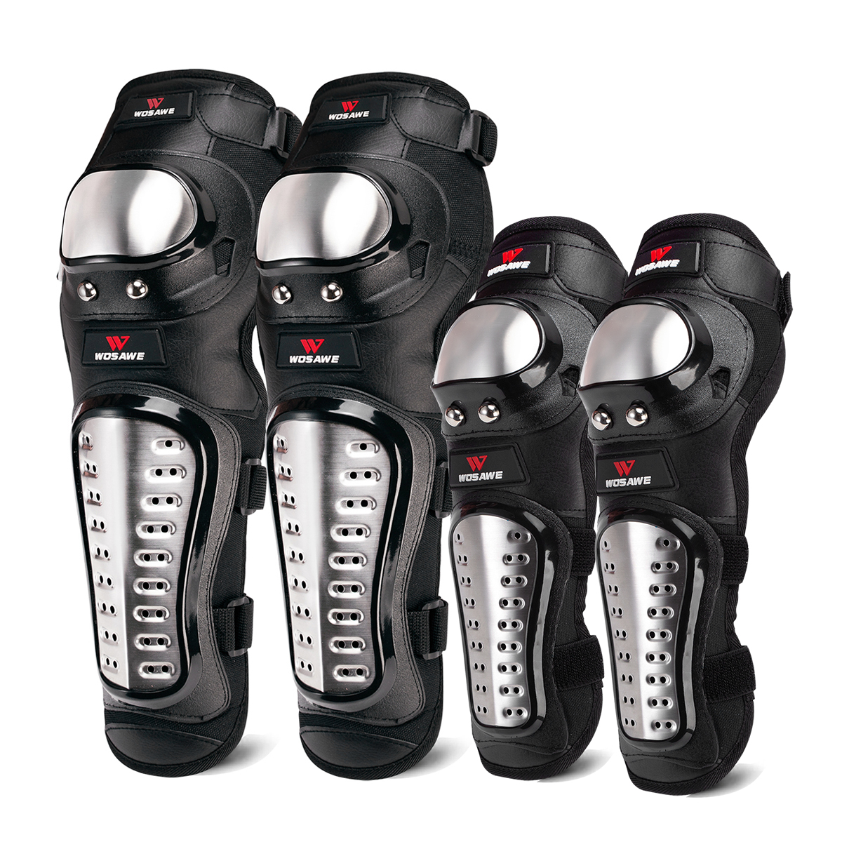 WOSAWE Hard Shell Motocross Knee Pads Set Support Sports Off-Road Guard MTB Snowboard Elbow Kneepad Motorcycle Protection Kit