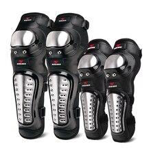 Wosaweハードシェルモト膝パッドセットブレースサポートスポーツオフロードガードmtbスノーボードニーパッドホッケーオートバイ保護キット