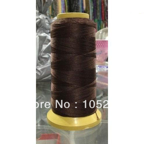 Wholesale 200M Brown Color Bead Silk Cord Thread Line Fit Necklace Jewelry 0.5mm New Arriver Free Shipping