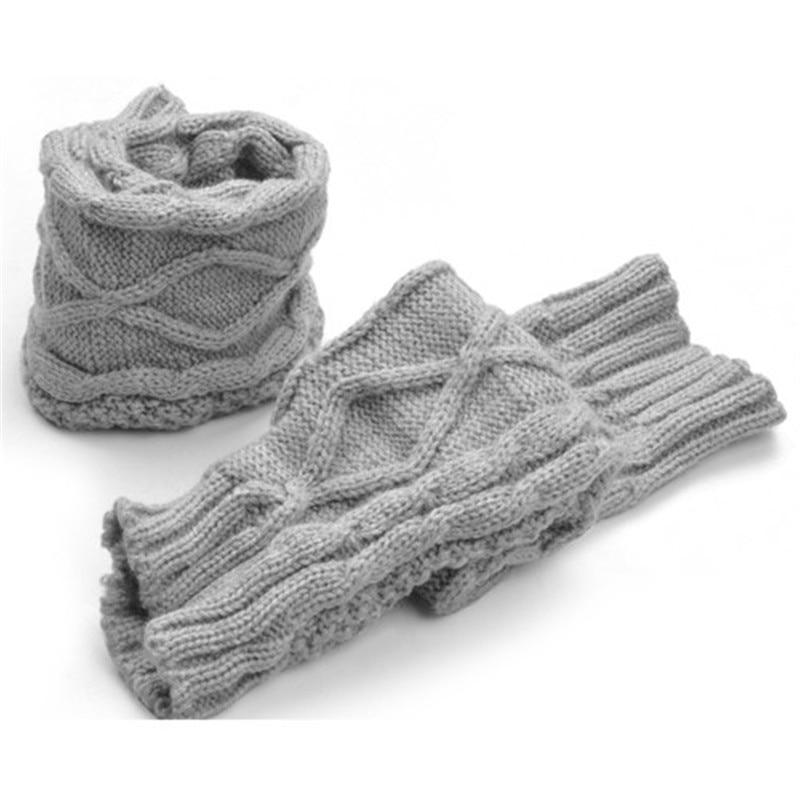 Bekleidung Zubehör Frauen Mädchen Der Winter Geflochtene Knit Weave Arm Wärmer Halbhand Stricken Lange Handschuhe Unterscheidungskraft FüR Seine Traditionellen Eigenschaften