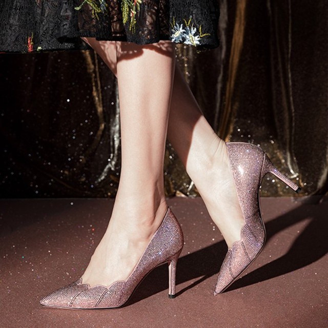 2019 new spring and summer pointed high-heeled shoes crystal wedding shoes stiletto sexy shallow mouth rhinestone single..2019 new spring and summer pointed high-heeled shoes crystal wedding shoes stiletto sexy shallow mouth rhinestone single..