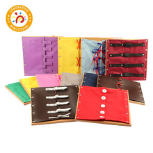 Montessori Kids Toys For Children Wooden Toddler Practical Life Buttons Dressing Frame Educational