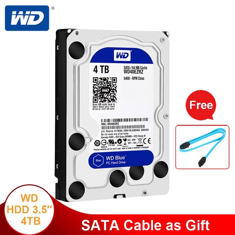 Western Digital Blue WD HDD 4TB Internal Hard Drive Hard Disk 3 5 SATA 6Gb s