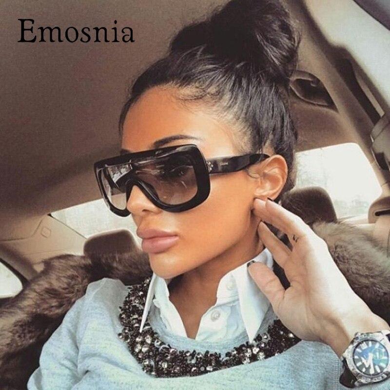 Emosnia 2017 Platz Übergroßen Sonnenbrille Frauen Männer Promi Marke Designer Große Dame UV400 Vintage Sonnenbrille Weiblichen Oculos