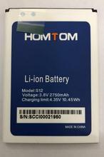 100% New Original homtom S12 Battery 2750 mAh for HOMTOM S12 Smart Phone new original 208 mm 4no 1e5 s12 warranty for two year