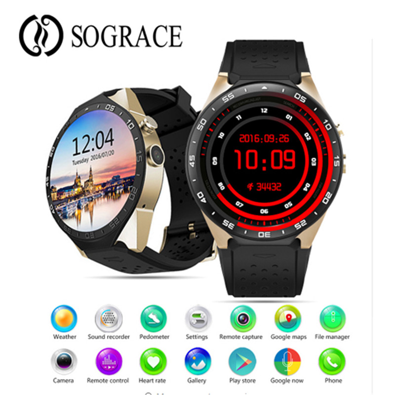 KW88 Smart Watch 3G 4GB ROM WIFI 1.39 Bluetooth Smart Watch Phone Android 5.1 SIM Card Camera Heart Rate Monitor GPS Watch 3g smart watch phone support sim card gps wifi fm heart rate monitor pedometer bluetooth camera touch screen z9 4gb rom android