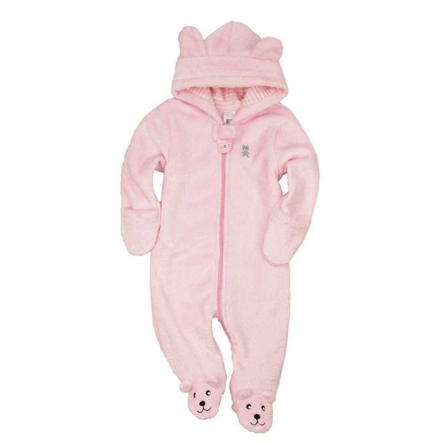 7002f7b52 Winter Animal baby shapes baby fleece baby clothes white   pink ...