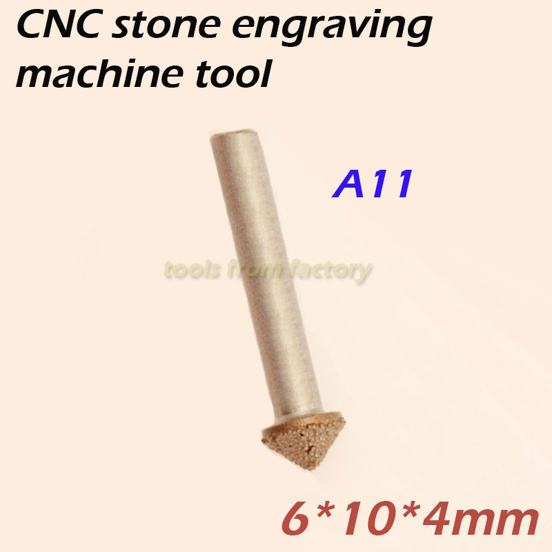 1pc 6*10*4mm cnc router diamond stone carving tool stone engraving machine cutter stone cutting bits A11 60 angle 4 0 4mm tip sharp three edge cnc router carving tool engraving bits 10pcs carbide cutting machine tools free ship