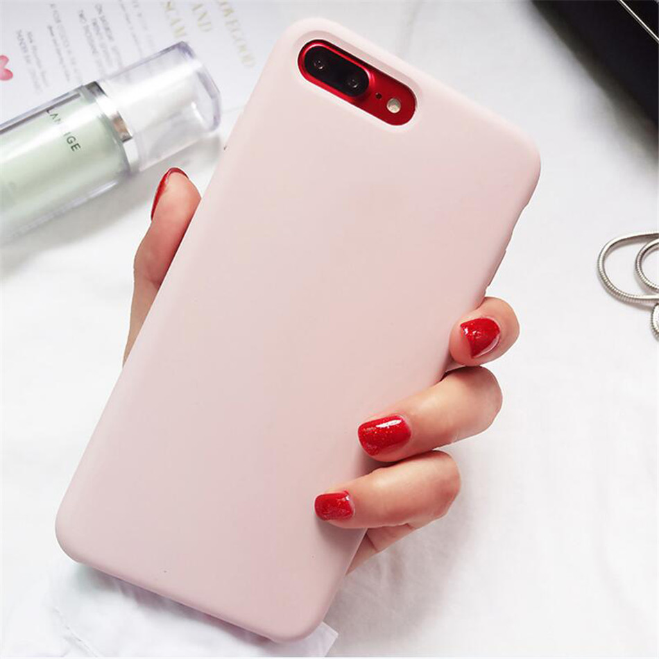 Original Silicone Case on iPhone 7 8 6 6S Plus X 5s 08
