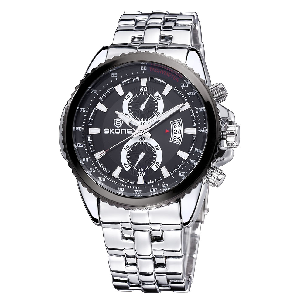 SKONE Quartz Watch Men Top Brand Luxury Wrist Watches Men Clock Mens Full Steel Wristwatch Male Clock Relogio Masculino winter wings украшение елочное елка