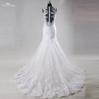 RSW989 Yiaibridal Real Job Pictures Mermaid Lace Colored Crystal Wedding Dress