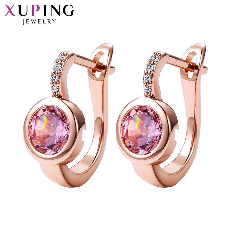 Xuping Fashion New Design Hoop Earrings with Synthetic Cubic Zirconia Valentines Day Luxury Jewelry for Women Girl GiftsXuping Fashion New Design Hoop Earrings with Synthetic Cubic Zirconia Valentines Day Luxury Jewelry for Women Girl Gifts