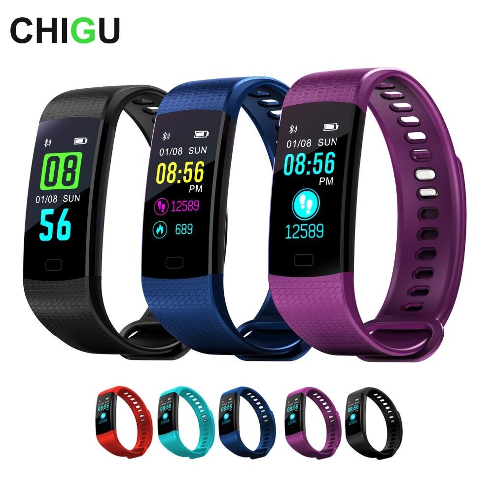 Y5 Smart Bracelet Bluetooth Heart Rate Smart Band Color Screen Fitness Tracker Sport Wristband Women Men