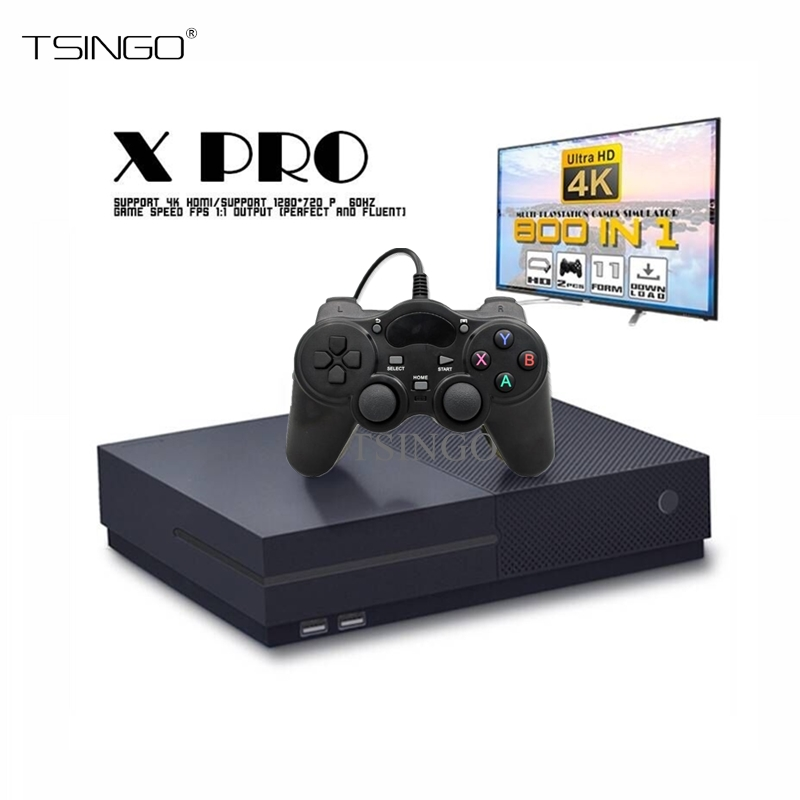 TSINGO 64Bit Retro Game Console Support 4K HDMI TV Output Built in 800 Classic Games TV Video Game Player For PS1/CPS/GBC/SMS/GB