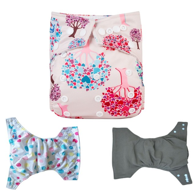 Printed Bamboo Charcoal Diapers Organic Potty Training Nappies