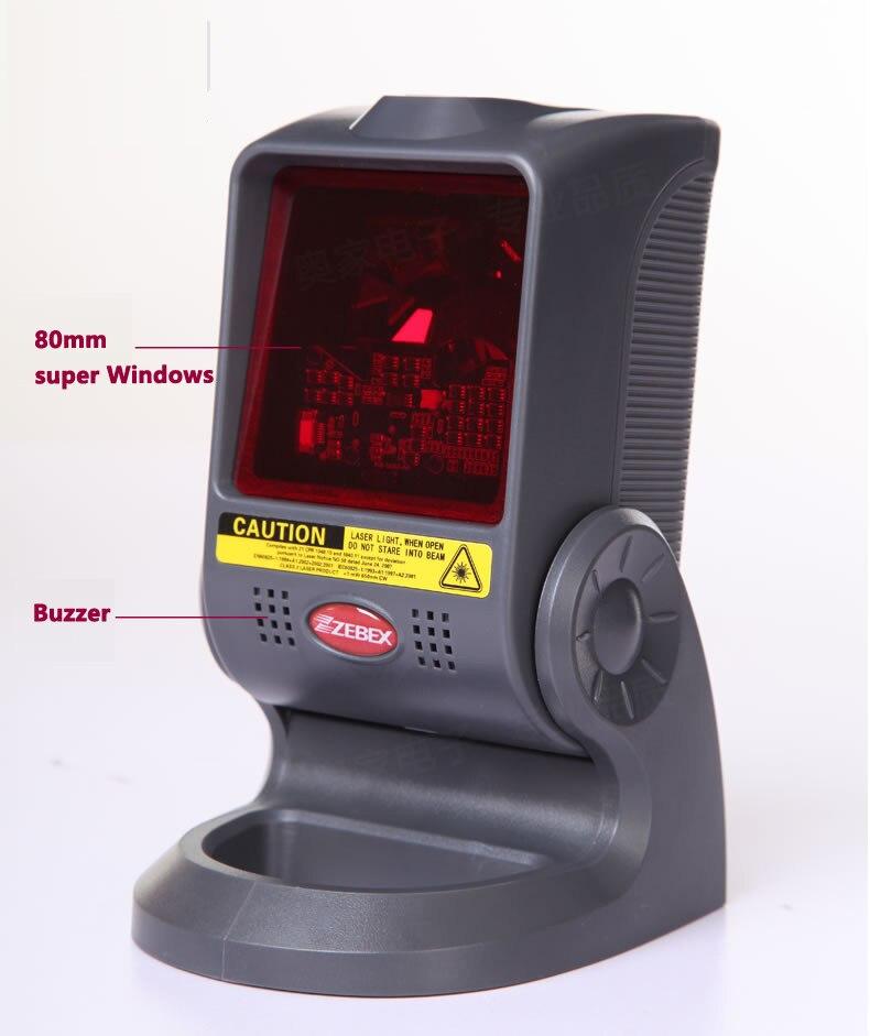 do código de barras do laser zebex