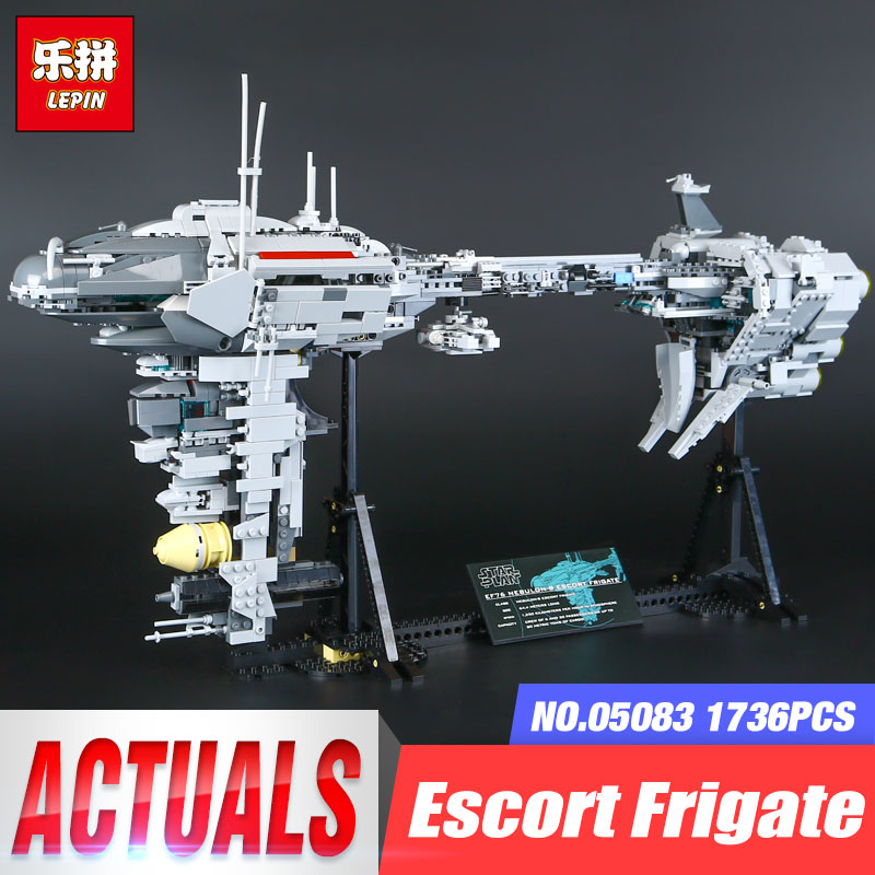 Lepin 05083 Star Series War 1736Pcs MOC The Nebulon Model B Set Medical Frigate Children Building Blocks Bricks Toys Gifts rollercoasters the war of the worlds