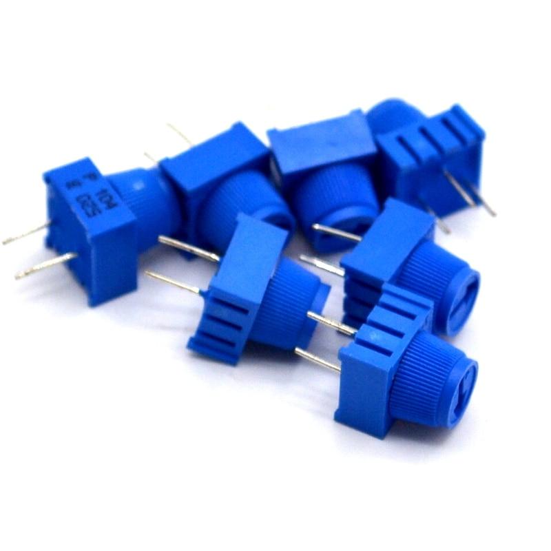 3386P-1-103 10K 1k 2k 5k 10k 20k...  0.5W, 1/2W PC Pins Through Hole Trimmer Potentiometer Cermet 1 Turn Top Adjustment 5PCS/LOT