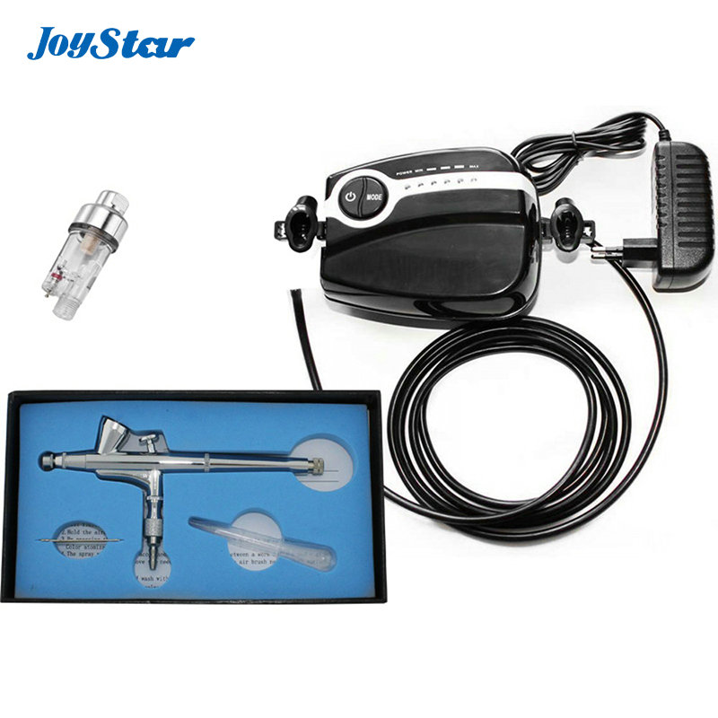 ABEST New Free shipping Pro Black Mini Airbrush Air Compressor Kit 0.2mm Dual Action Gravity feed With filter abest new portable airbrush compressor kit dual action airbrush makeup tattoo 5 speed with filter ac05p30f