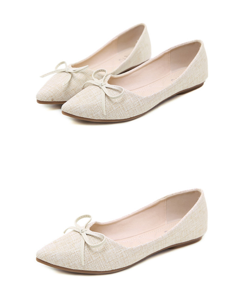 Women Ballerinas Flats Fashion Bowtie Shallow Mouth Slip-on Women Flats Concise Ladies Casual Flat Shoes Ballet Flats For Women (10)
