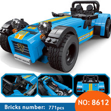 DECOOL 8612 ideas racers Caterham Seven 620R Sports Car And F430 Sports Model Toys Blocks Brick Compatible 21307 for children